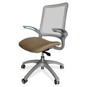 Lorell® Vortex Self-Adjusting Weight-Activated Task Chair - Roulette with Gray Frame