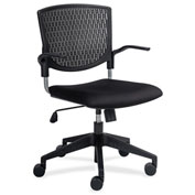 Lorell® Plastic Back Task Chair - Black