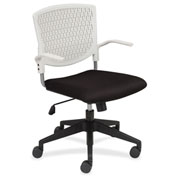 Lorell® Plastic Back Task Chair - Black with White Back