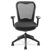 Lorell® Mesh-Back Task Chair with Swivel Tilt - Black