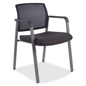 Lorell® Stackable Guest Chair - Black