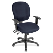 Lorell® Adjustable Waterfall Design Fabric Task Chair - Periwinkle Blue