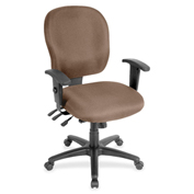 Lorell® Adjustable Waterfall Design Fabric Task Chair - Malted