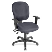 Lorell® Adjustable Waterfall Design Fabric Task Chair - Chambray