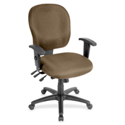 Lorell® Adjustable Waterfall Design Fabric Task Chair - Roulette