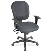 Lorell® Adjustable Waterfall Design Fabric Task Chair - Gray