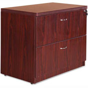 "Lorell® Lateral File Cabinet - 35.5"" x 22"" x 30"" - Mahogany - Chateau Series"