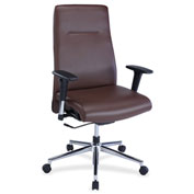 Lorell® Leather Suspension Chair - Brown