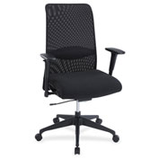 Lorell® Weight Activated Mesh Back Suspension Chair - Black