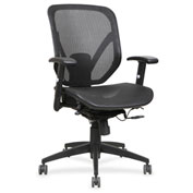 Lorell® Mesh Seat/Back Mid-Back Chair - Black