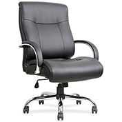 Lorell® Leather Deluxe Big/Tall Chair - Black