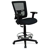 Lorell® Breathable Mesh Drafting Stool - Black