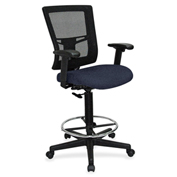 Lorell® Breathable Mesh Drafting Stool - Periwinkle Blue