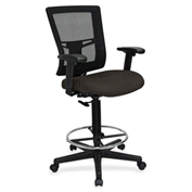 Lorell® Breathable Mesh Drafting Stool - Pepper
