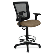 Lorell® Breathable Mesh Drafting Stool - Roulette