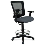 Lorell® Breathable Mesh Drafting Stool - Gray