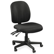 Lorell® Mid-Back Task Chair w/o Arms - Black