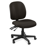 Lorell® Mid-Back Task Chair w/o Arms - Pepper