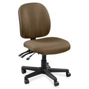 Lorell® Mid-Back Task Chair w/o Arms - Roulette