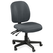Lorell® Mid-Back Task Chair w/o Arms - Gray