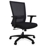 Lorell® Mesh Mid-Back Swivel Chair - Black