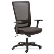 Lorell® Mesh High-Back Swivel Chair - Black