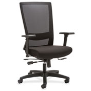 Lorell® Mesh High-Back Seat Slide Chair - Black