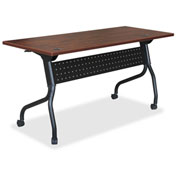 "Lorell® Mobile 60"" Flip Top Training Table - Cherry"