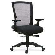 Lorell® 3D Rotation Armrests Mid-Back Mesh Chair - Black