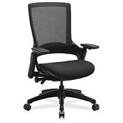 Lorell® Executive Multifunction Fabric Chair with Mesh High-Back - Black