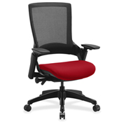 Lorell® Executive Mesh Back Chair - Real Red