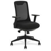 Lorell® Mesh Back Multifunction Chair - Black