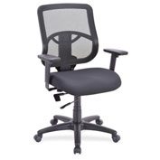 Lorell® Managerial Mid-Back Mesh Chair - Black