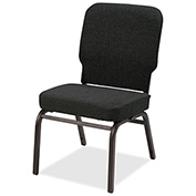 Lorell® Fabric Back/Seat Oversized Stack Chairs - Black - 2/Pack