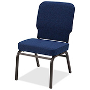 Lorell® Fabric Back/Seat Oversized Stack Chairs - Navy - 2/Pack