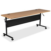 "Lorell® Mobile Flipper Training Table - 60"" x 24"" - Teak"
