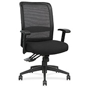 Lorell® Executive High-Back Mesh Multifunction Chair - Black