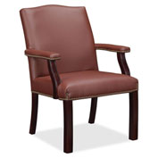 Lorell® Bonded Leather Guest Chair - Burgundy