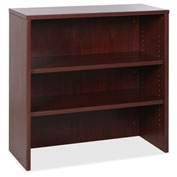 "Lorell® Hutch for 35"" Lateral File Cabinet - 35.5"" x 14.8"" x 36"" - Mahogany - Essentials Series"