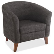 Lorell Fabric Club Armchair Black