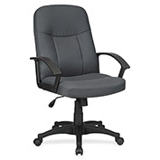 Lorell® Executive Fabric Mid-Back Chair - Gray