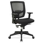 Lorell® Executive Mesh Adjustable-Height Mid-Back Chair - Black