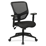 Lorell® Executive Mesh Mid-Back Chair - Black