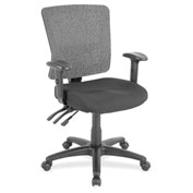 Lorell® Low-Back Mesh Chair - Black with Gray Back