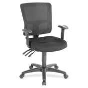 Lorell® Low-Back Mesh Chair - Black with Black Back