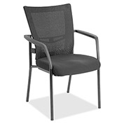 Lorell® Mesh Back Guest Chair - Black