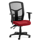 Lorell® 86000 Series Executive Mesh Back Chair - Real Red