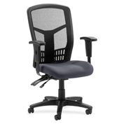 Lorell® 86000 Series Executive Mesh Back Chair - Chambray