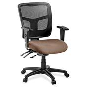 Lorell® 86000 Series Managerial Mesh Mid-Back Chair - Malted