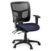 Lorell® 86000 Series Managerial Mesh Mid-Back Chair - Black